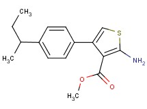 methyl 2-amino-4-(4-sec-butylphenyl)thiophene-3-carboxylate
