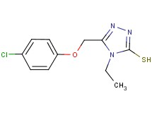 5-[(4-chlorophenoxy)methyl]-4-ethyl-4H-1,2,4-triazole-3-thiol