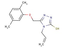 4-allyl-5-[(2,5-dimethylphenoxy)methyl]-4H-1,2,4-triazole-3-thiol