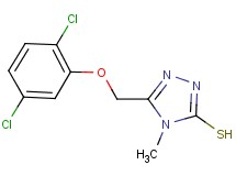 5-[(2,5-dichlorophenoxy)methyl]-4-methyl-4H-1,2,4-triazole-3-thiol