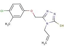4-allyl-5-[(4-chloro-3-methylphenoxy)methyl]-4H-1,2,4-triazole-3-thiol