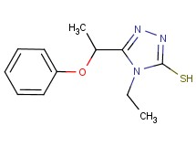 4-ethyl-5-(1-phenoxyethyl)-4H-1,2,4-triazole-3-thiol
