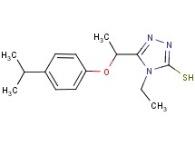 4-ethyl-5-[1-(4-isopropylphenoxy)ethyl]-4H-1,2,4-triazole-3-thiol