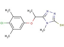 5-[1-(4-chloro-3,5-dimethylphenoxy)ethyl]-4-methyl-4H-1,2,4-triazole-3-thiol