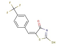 (5E)-2-mercapto-5-[4-(trifluoromethyl)benzylidene]-1,3-thiazol-4(5H)-one
