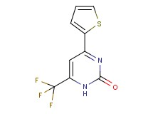 4-(2-thienyl)-6-(trifluoromethyl)pyrimidin-2(1H)-one