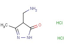 4-(aminomethyl)-5-methyl-2,4-dihydro-3H-pyrazol-3-one dihydrochloride