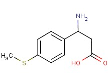 3-amino-3-[4-(methylthio)phenyl]propanoic acid