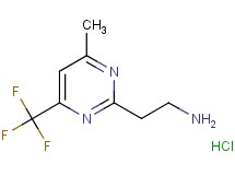 {2-[4-methyl-6-(trifluoromethyl)-2-pyrimidinyl]ethyl}amine hydrochloride