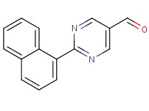 2-(1-naphthyl)pyrimidine-5-carbaldehyde