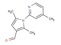 2,5-dimethyl-1-(4-methylpyridin-2-yl)-1H-pyrrole-3-carbaldehyde