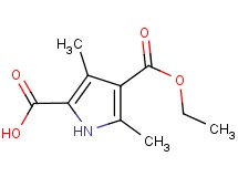 4-(ethoxycarbonyl)-3,5-dimethyl-1H-pyrrole-2-carboxylic acid