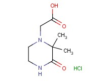 (2,2-dimethyl-3-oxo-1-piperazinyl)acetic acid hydrochloride