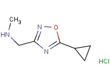 [(5-cyclopropyl-1,2,4-oxadiazol-3-yl)methyl]methylamine hydrochloride