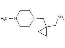 ({1-[(4-methyl-1-piperazinyl)methyl]cyclopropyl}methyl)amine