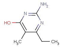 2-amino-6-ethyl-5-methyl-4-pyrimidinol