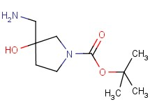 tert-butyl 3-(aminomethyl)-3-hydroxy-1-pyrrolidinecarboxylate