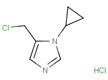 5-(chloromethyl)-1-cyclopropyl-1H-imidazole hydrochloride