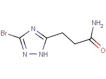3-(3-bromo-1H-1,2,4-triazol-5-yl)propanamide