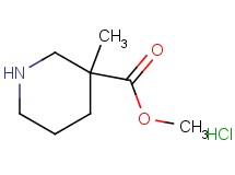 methyl 3-methyl-3-piperidinecarboxylate hydrochloride
