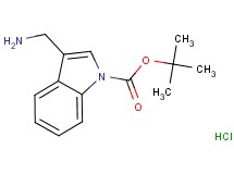 tert-butyl 3-(aminomethyl)-1H-indole-1-carboxylate hydrochloride