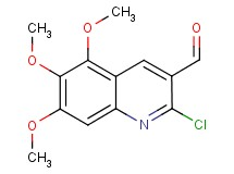 2-chloro-5,6,7-trimethoxy-3-quinolinecarbaldehyde