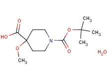 1-(tert-butoxycarbonyl)-4-methoxy-4-piperidinecarboxylic acid hydrate