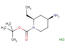 tert-butyl rac-(2S,4S)-4-amino-2-ethyl-1-piperidinecarboxylate hydrochloride