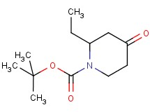 tert-butyl 2-ethyl-4-oxo-1-piperidinecarboxylate