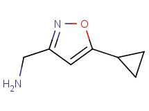 1-(5-cyclopropyl-3-isoxazolyl)methanamine