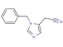 (1-benzyl-1H-imidazol-5-yl)acetonitrile