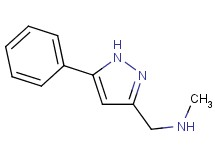 N-methyl-1-(5-phenyl-1H-pyrazol-3-yl)methanamine