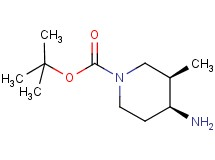 tert-butyl cis-4-amino-3-methyl-1-piperidinecarboxylate