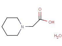 1-piperidinylacetic acid hydrate