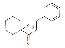 1-(1-methylcyclohexyl)-3-phenylpropan-1-one