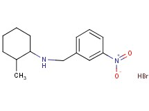 (2-methylcyclohexyl)(3-nitrobenzyl)amine hydrobromide