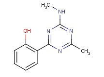 2-[4-methyl-6-(methylamino)-1,3,5-triazin-2-yl]phenol