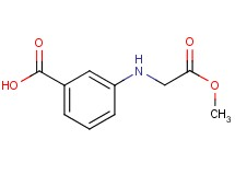 3-[(2-methoxy-2-oxoethyl)amino]benzoic acid