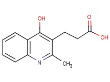 3-(4-hydroxy-2-methylquinolin-3-yl)propanoic acid