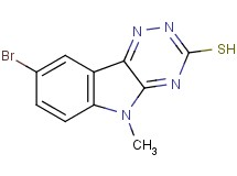 8-bromo-5-methyl-5H-[1,2,4]triazino[5,6-b]indole-3-thiol