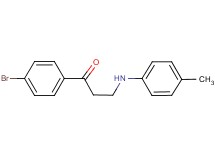 1-(4-bromophenyl)-3-[(4-methylphenyl)amino]propan-1-one