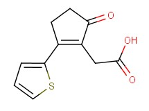 [5-oxo-2-(2-thienyl)cyclopent-1-en-1-yl]acetic acid