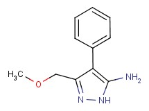 3-(methoxymethyl)-4-phenyl-1H-pyrazol-5-amine