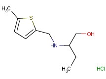 2-{[(5-methyl-2-thienyl)methyl]amino}-1-butanol hydrochloride