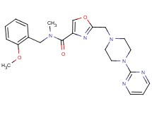 N-(2-methoxybenzyl)-N-methyl-2-{[4-(2-pyrimidinyl)-1-piperazinyl]methyl}-1,3-oxazole-4-carboxamide