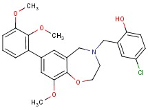 4-chloro-2-{[7-(2,3-dimethoxyphenyl)-9-methoxy-2,3-dihydro-1,4-benzoxazepin-4(5H)-yl]methyl}phenol