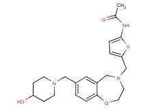 N-(5-{[7-[(4-hydroxy-1-piperidinyl)methyl]-2,3-dihydro-1,4-benzoxazepin-4(5H)-yl]methyl}-2-thienyl)acetamide