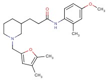 3-{1-[(4,5-dimethyl-2-furyl)methyl]-3-piperidinyl}-N-(4-methoxy-2-methylphenyl)propanamide