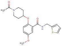 2-[(1-acetyl-4-piperidinyl)oxy]-5-methoxy-N-(2-thienylmethyl)benzamide