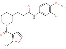 N-(3-chloro-4-methoxyphenyl)-3-[1-(2-methyl-3-furoyl)-3-piperidinyl]propanamide